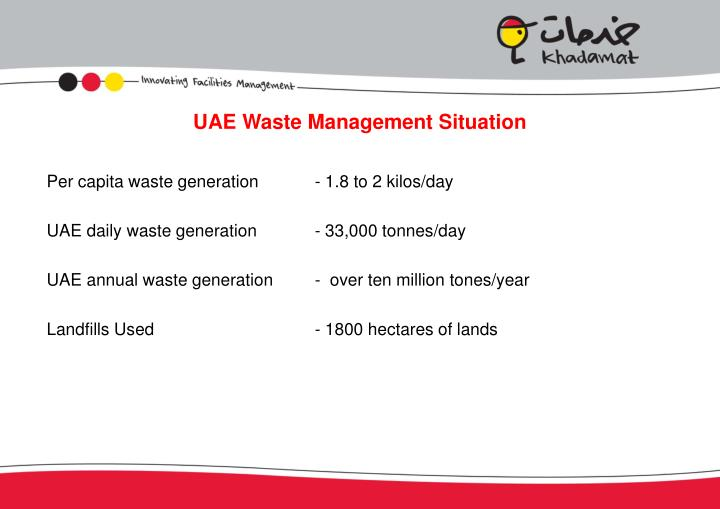 Uae waste management situation