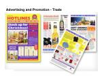 advertising and promotion trade