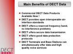 main benefits of dect data