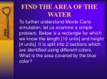 find the area of the water