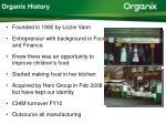 organix history