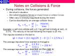 notes on collisions force