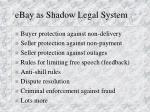 ebay as shadow legal system