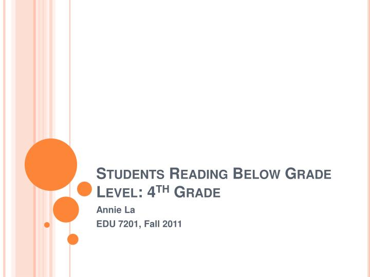 students reading below grade level 4 th grade n.