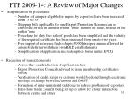 ftp 2009 14 a review of major changes1