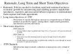 rationale long term and short term objectives