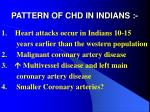 pattern of chd in indians