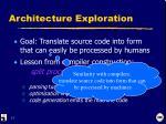 architecture exploration