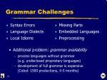 grammar challenges