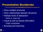 presentation desiderata