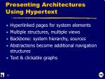 presenting architectures using hypertext