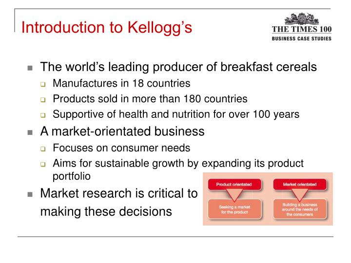 kellogg s case study Case search search by title, author, or keyword use quotes to search for an exact phrase.