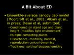 a bit about ed