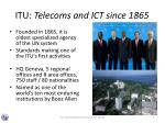 itu telecoms and ict since 1865