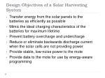design objectives of a solar harvesting system
