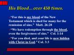his blood over 450 times