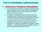 fasi di un indagine epidemiologica