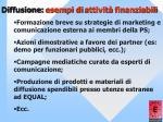 diffusione esempi di attivit finanziabili