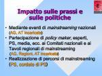 impatto sulle prassi e sulle politiche