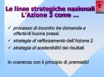 le linee strategiche nazionali l azione 3 come
