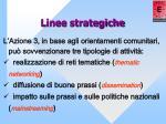 linee strategiche