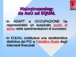 mainstreaming da aeo ad equal