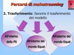 percorsi di mainstreaming