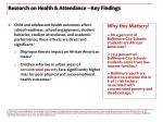 research on health attendance key findings