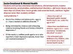 socio emotional mental health