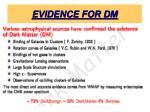 evidence for dm