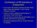 contribution of rd activities to employment