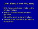 other effects of new rd activity