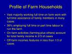 profile of farm households1