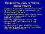 respondents views re fuchsia brands initiative
