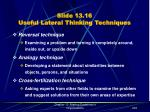 slide 13 16 useful lateral thinking techniques