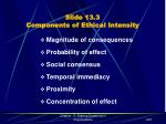 slide 13 3 components of ethical intensity