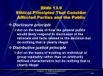 slide 13 6 ethical principles that consider affected parties and the public