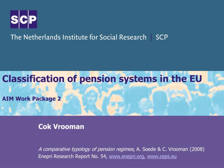 classification of pension systems in the eu aim work package 2 n.