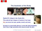 the aesthetic of the body