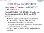 23002 2 fixed point dct idct