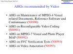 ahgs recommended by video