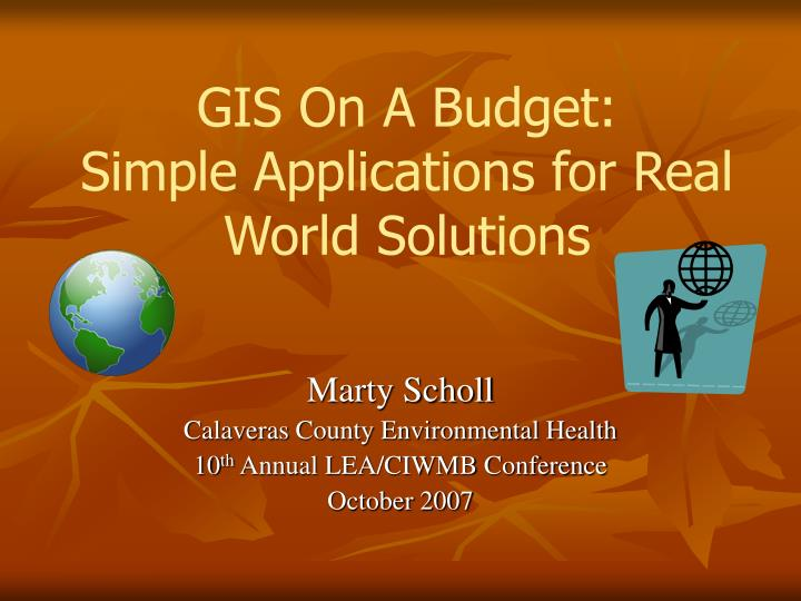 gis on a budget simple applications for real world solutions n.