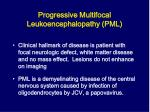 progressive multifocal leukoencephalopathy pml1