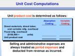 unit cost computations1