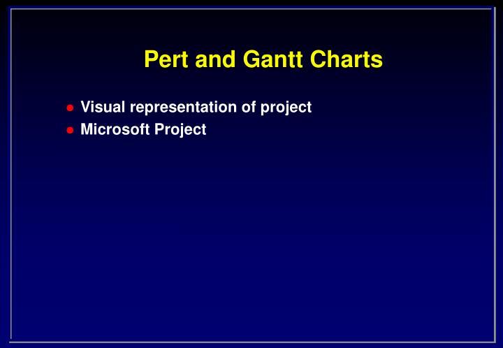Pert and Gantt Charts