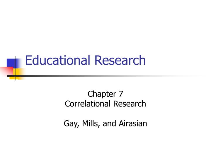 educational research n.