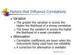 factors that influence correlations1