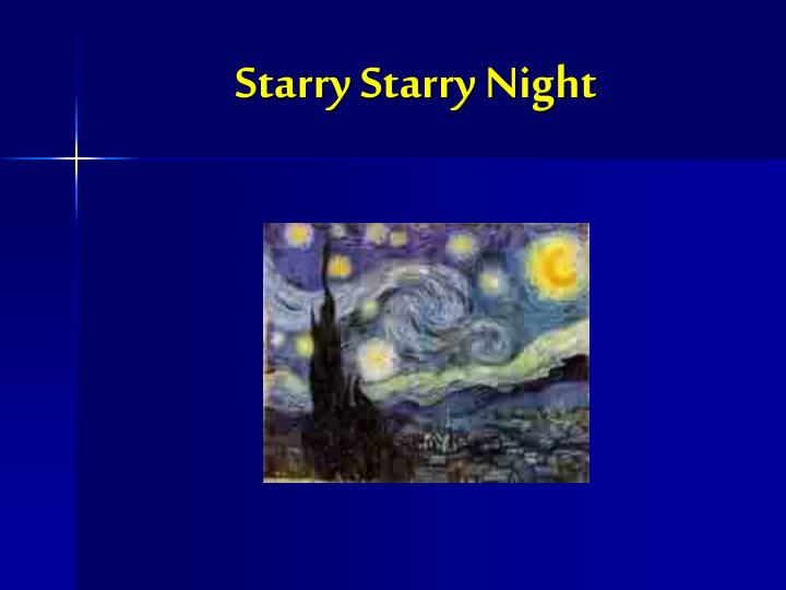 starry starry night n.