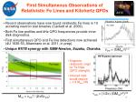 first simultaneous observations of relativistic fe lines and kilohertz qpos