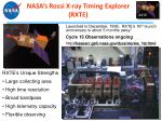 nasa s rossi x ray timing explorer rxte